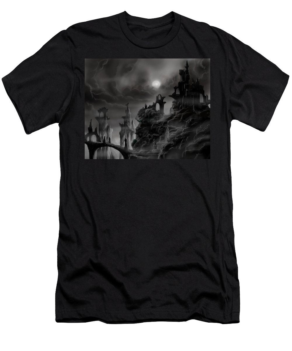 Ruins T-Shirt featuring the painting Ghost Castle by James Christopher Hill