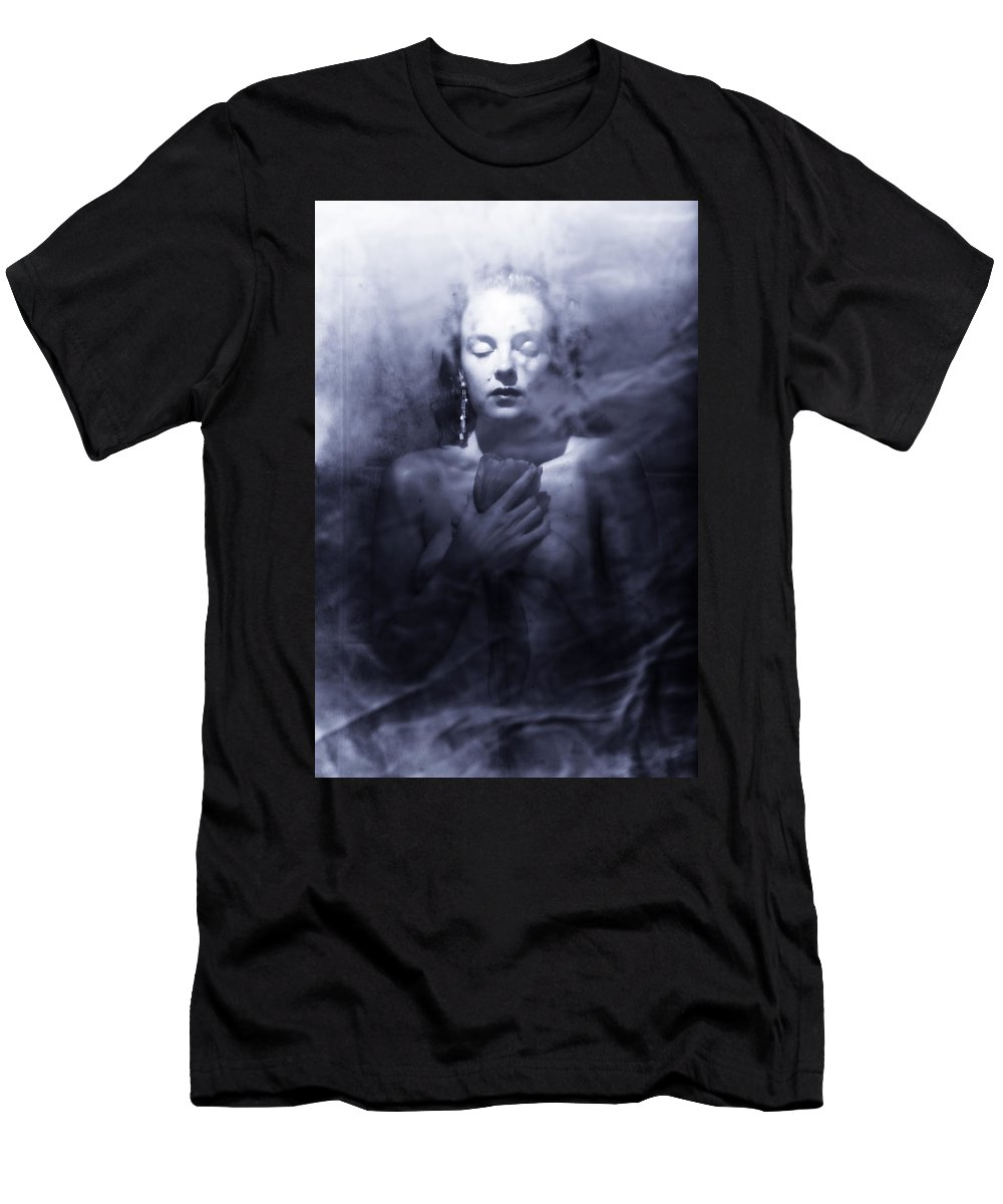 Woman Men's T-Shirt (Athletic Fit) featuring the photograph Ghost Woman by Scott Sawyer