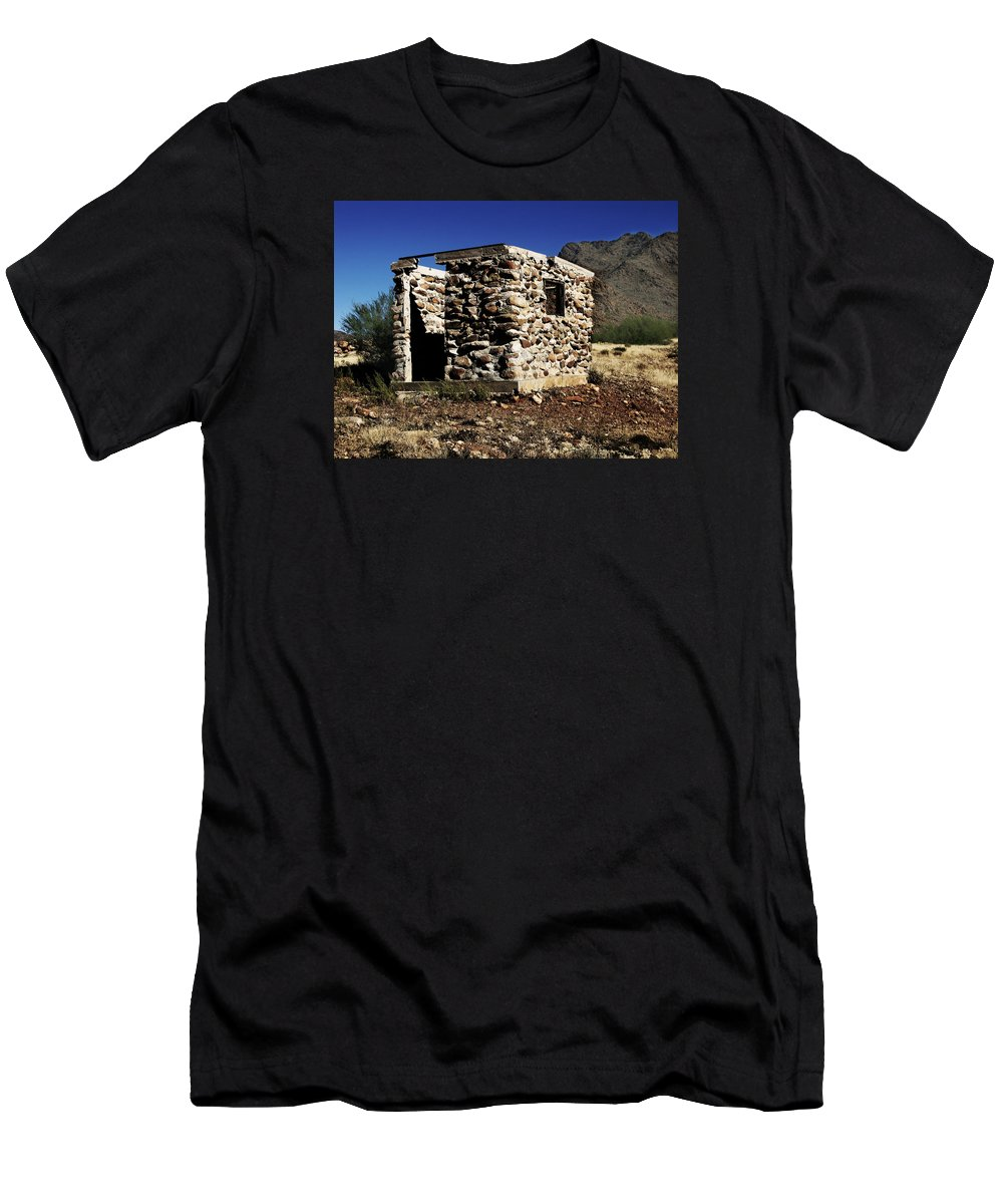 Grave Men's T-Shirt (Athletic Fit) featuring the photograph Ghostly Remains by Rachel Knight