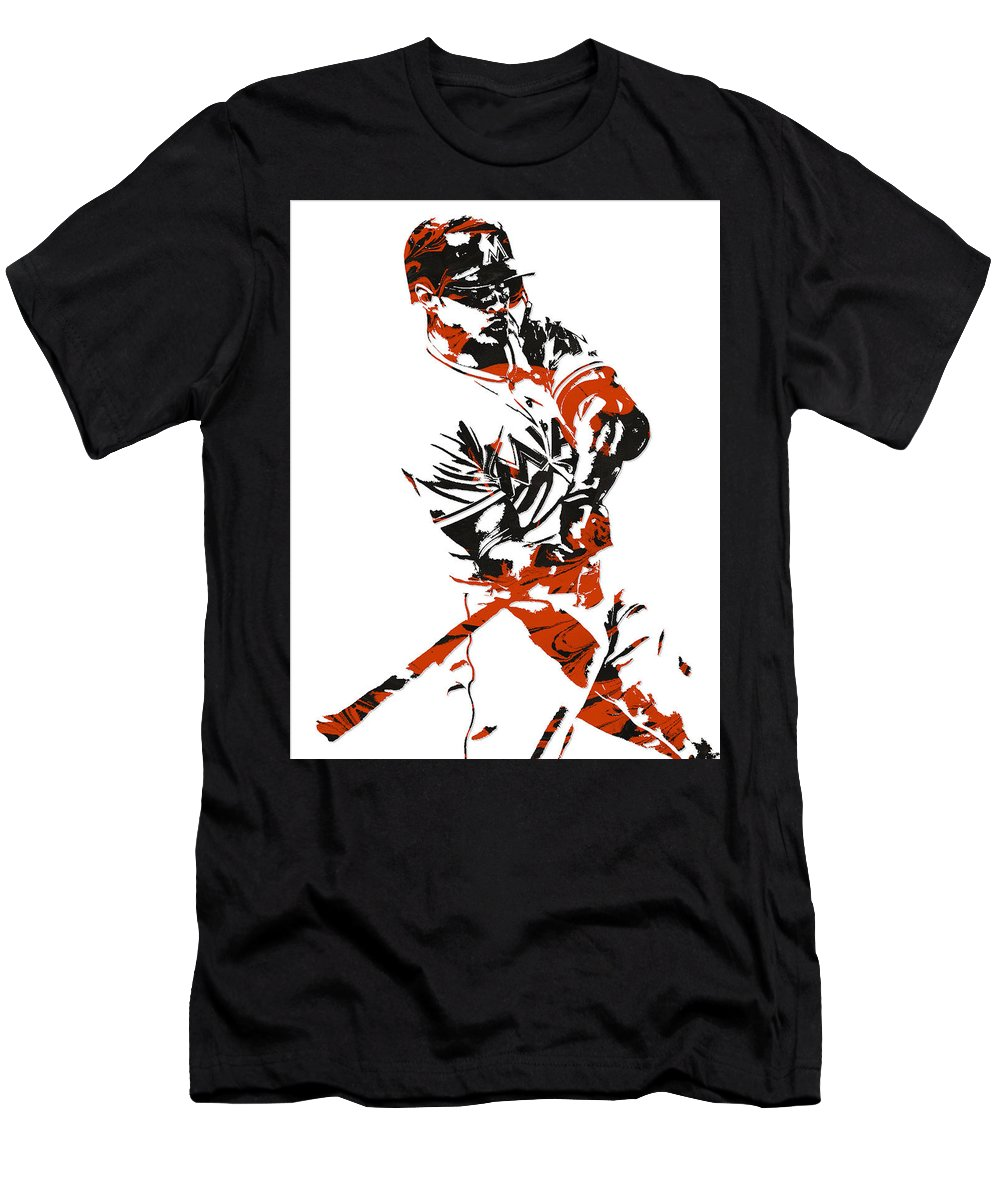 newest 721fd 94ea6 Giancarlo Stanton Miami Marlinspixel Art 1 Men's T-Shirt (Athletic Fit)
