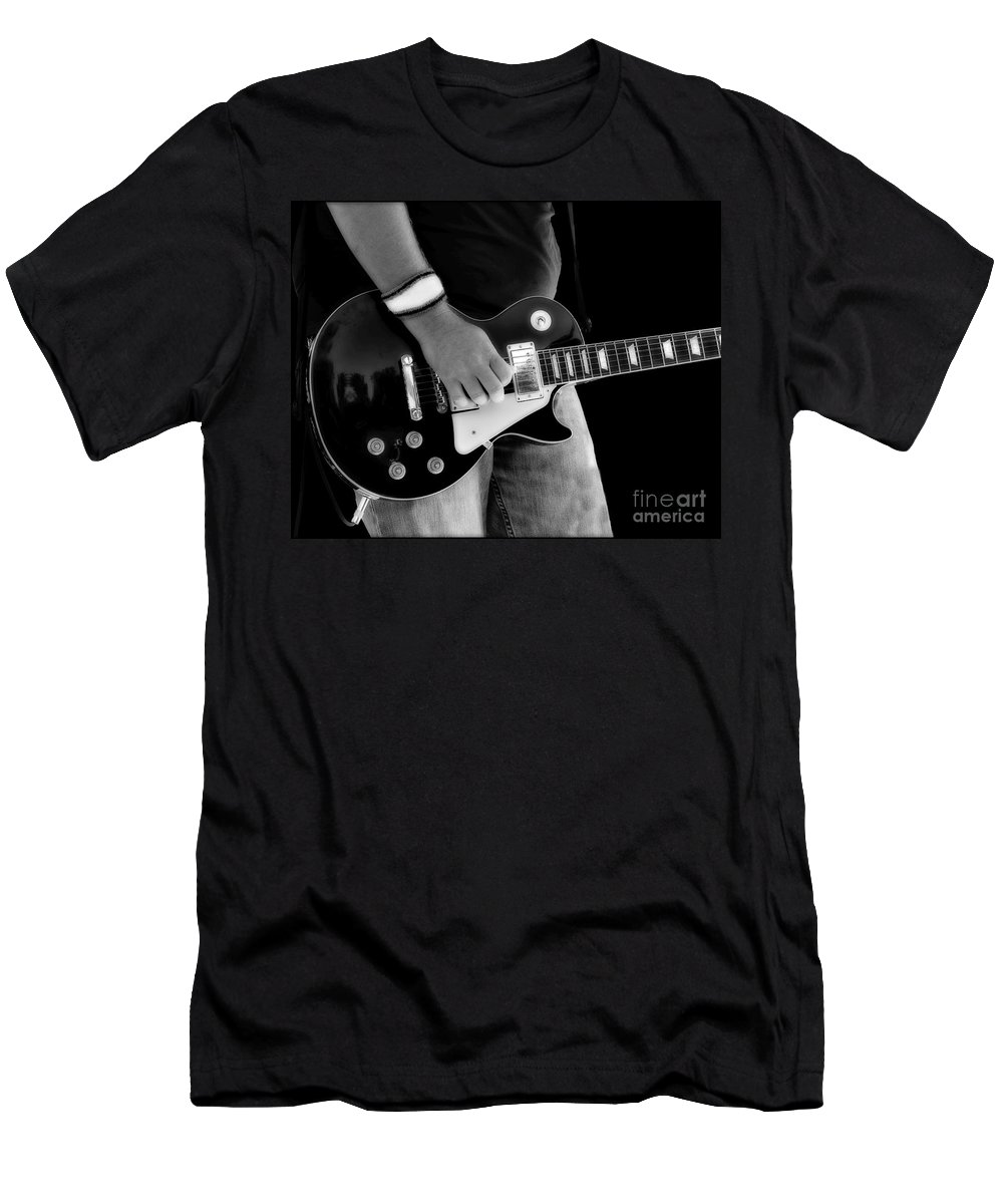 Gibson Men's T-Shirt (Athletic Fit) featuring the photograph Gibson Les Paul Guitar by Randy Steele