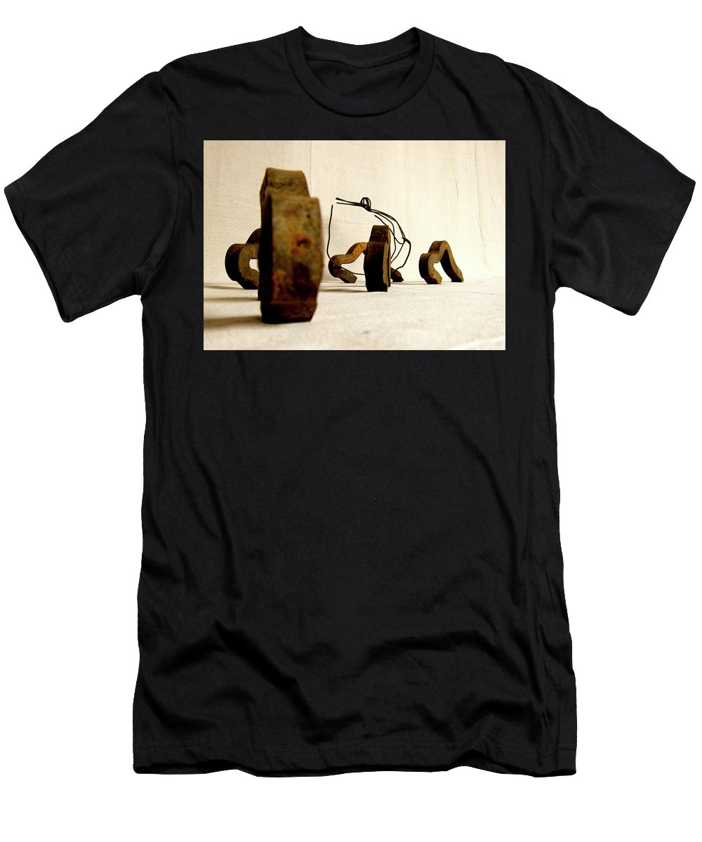 Abstract Men's T-Shirt (Athletic Fit) featuring the photograph Giddy Up by Luis Martinez