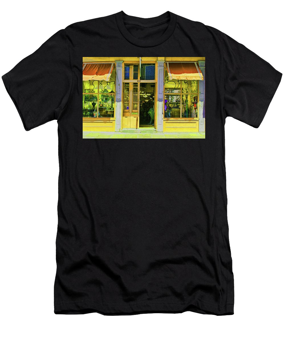 Gift Shop Men's T-Shirt (Athletic Fit) featuring the photograph Gift Shop Windows by Artie Rawls