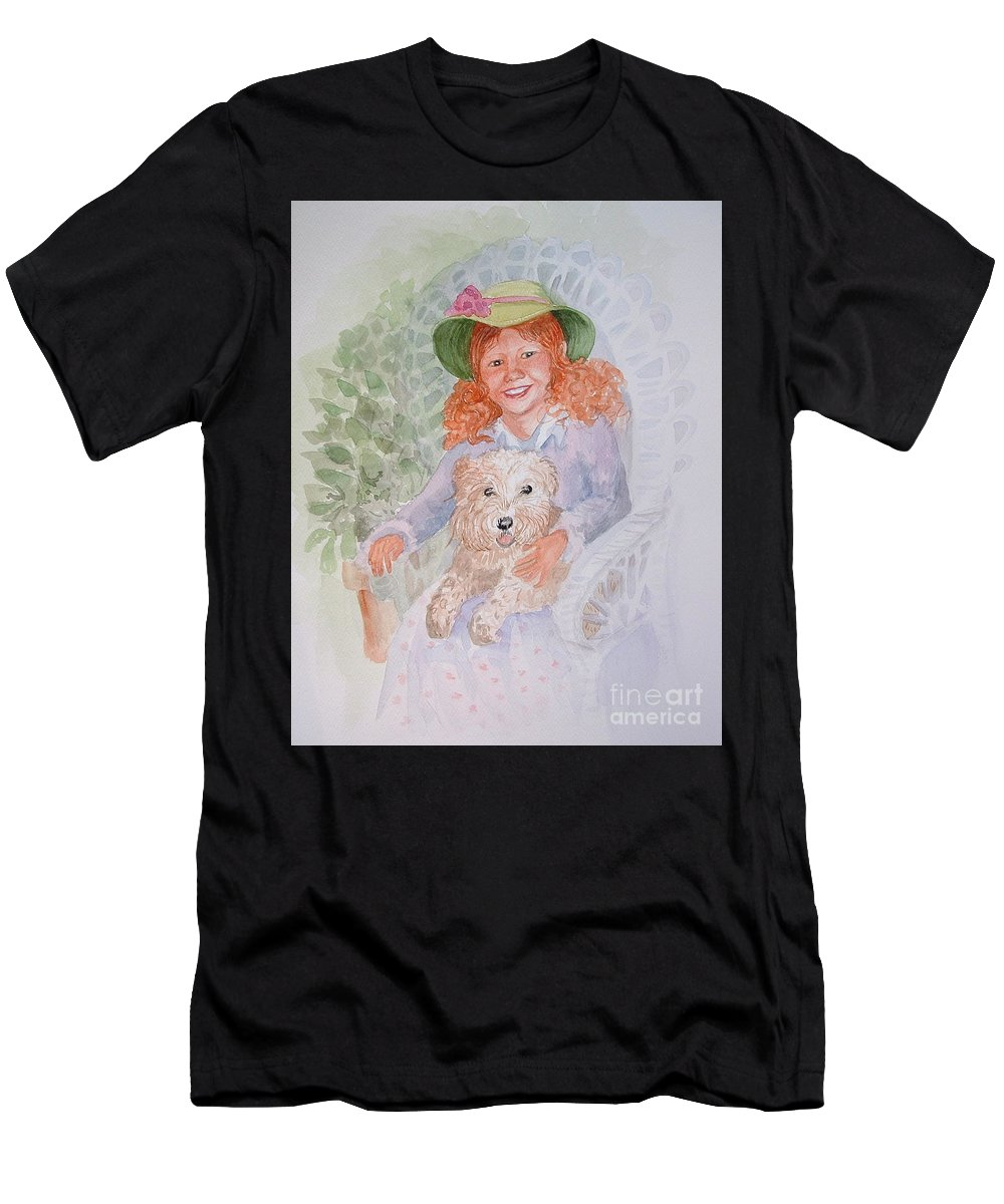 Portrait Men's T-Shirt (Athletic Fit) featuring the painting Ginger by Marilyn Smith