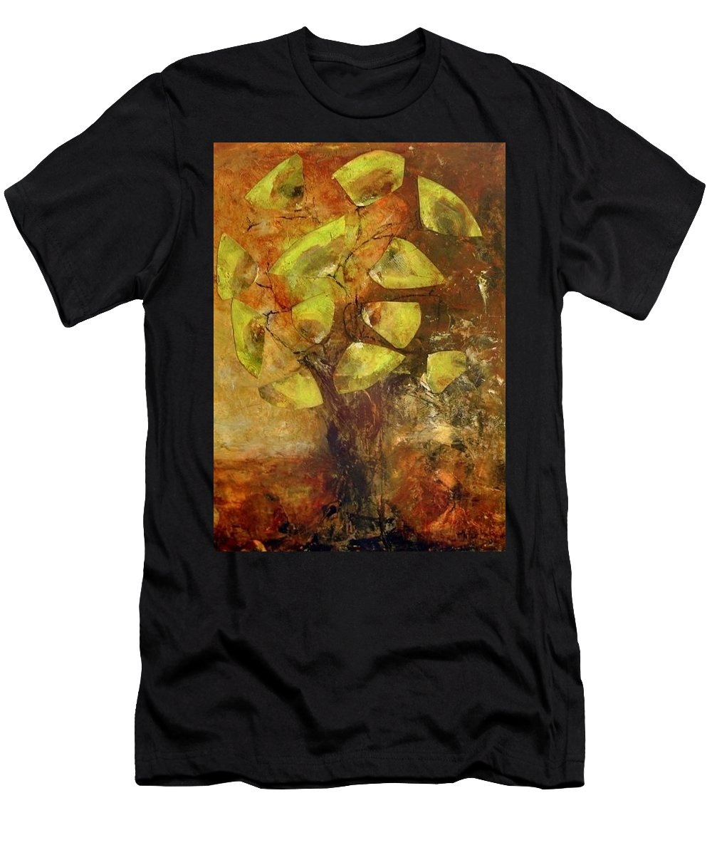 Men's T-Shirt (Athletic Fit) featuring the painting Ginko by Martha Dolan