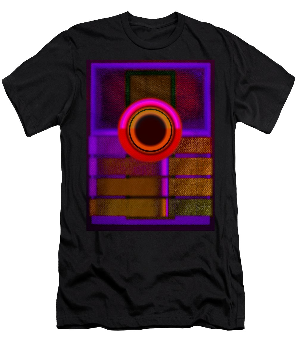 Portal Men's T-Shirt (Athletic Fit) featuring the painting Ginza Twilight by Charles Stuart