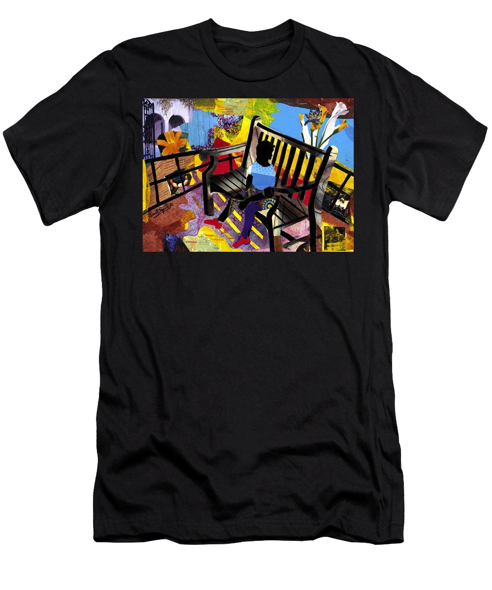 Everett Spruill T-Shirt featuring the painting Girl In Red Shoes by Everett Spruill