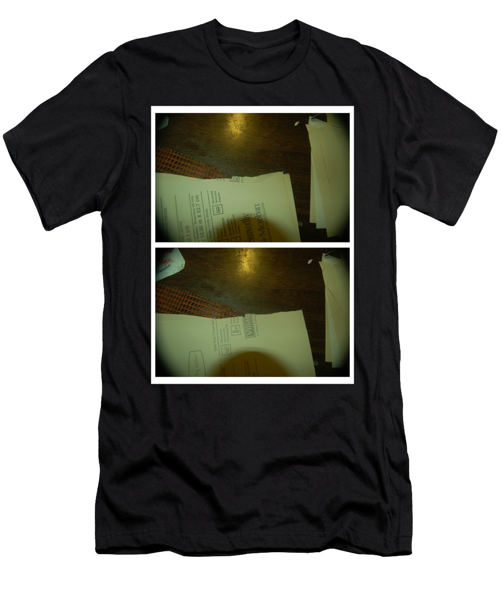 Abstract Men's T-Shirt (Athletic Fit) featuring the photograph Give Life Back To Music by Alwyn Glasgow