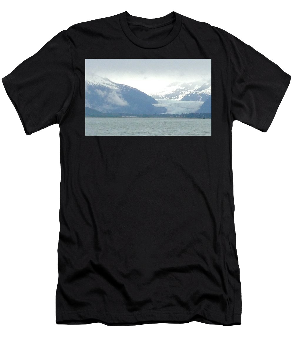 Glacier Men's T-Shirt (Athletic Fit) featuring the photograph Glacier by Charla Dury