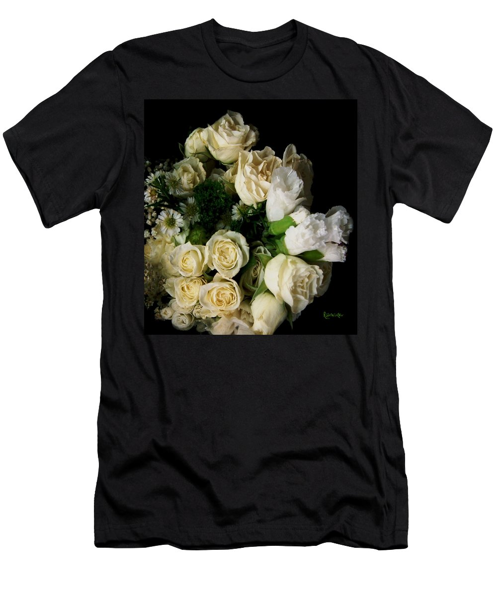Roses Men's T-Shirt (Athletic Fit) featuring the photograph Glamour by RC deWinter