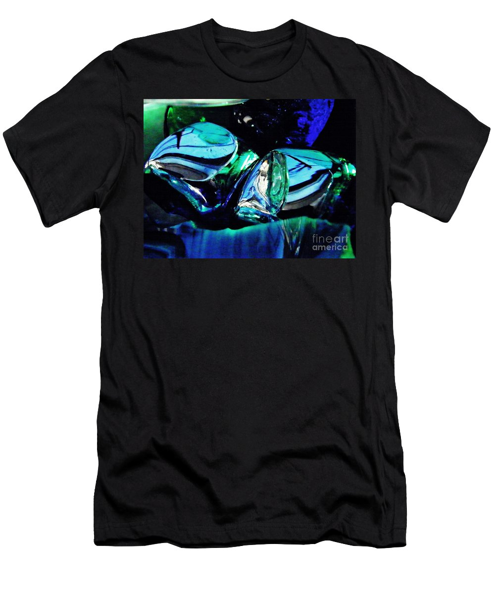 Glass Men's T-Shirt (Athletic Fit) featuring the photograph Glass Abstract 141 by Sarah Loft