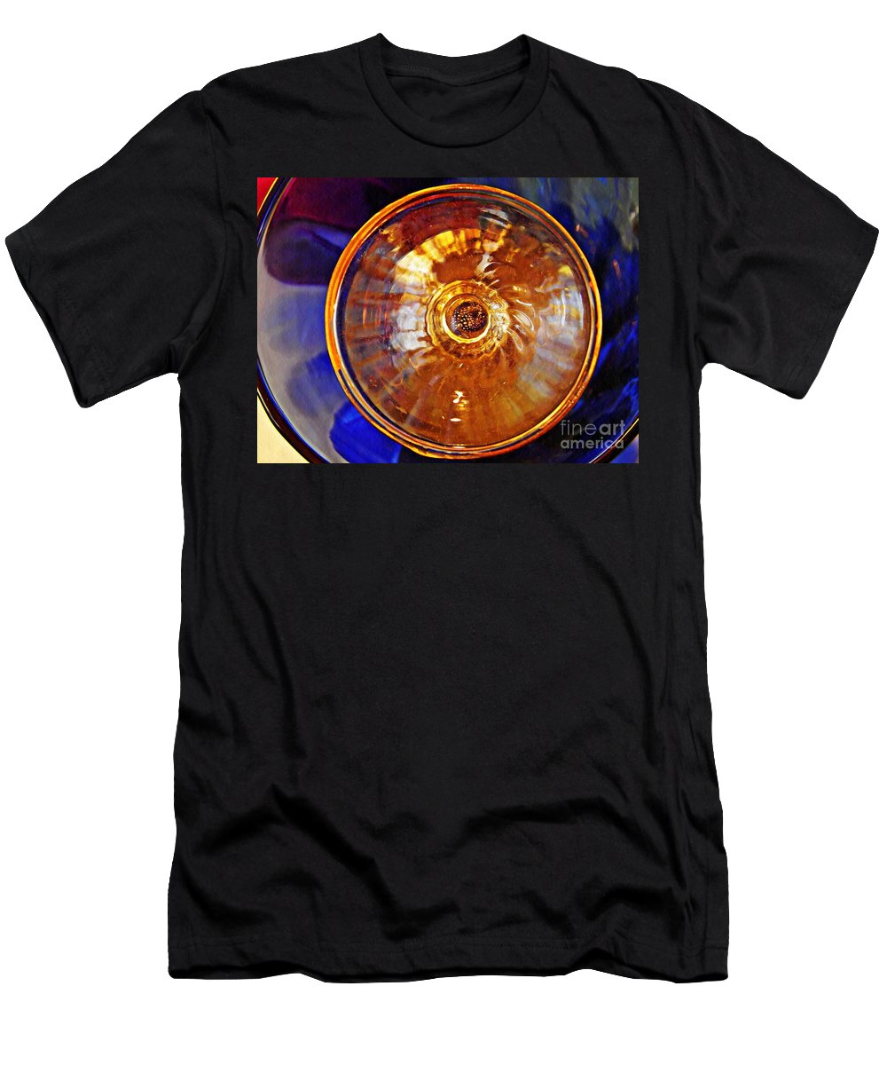 Abstract Men's T-Shirt (Athletic Fit) featuring the photograph Glass Abstract 577 by Sarah Loft