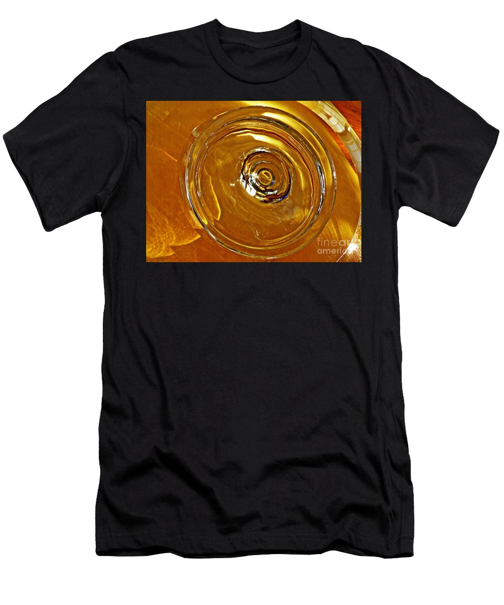 Abstract Men's T-Shirt (Athletic Fit) featuring the photograph Glass Abstract 578 by Sarah Loft