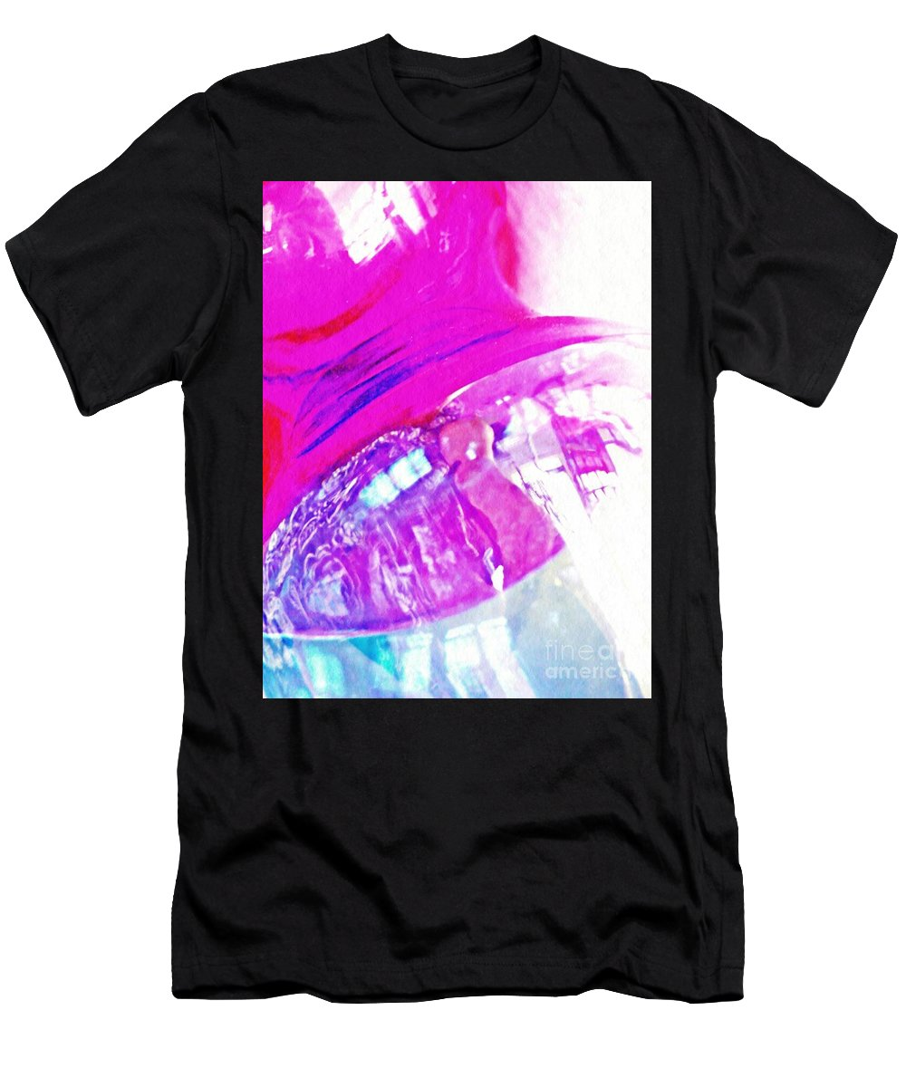 Abstract Men's T-Shirt (Athletic Fit) featuring the photograph Glass Abstract 602 by Sarah Loft