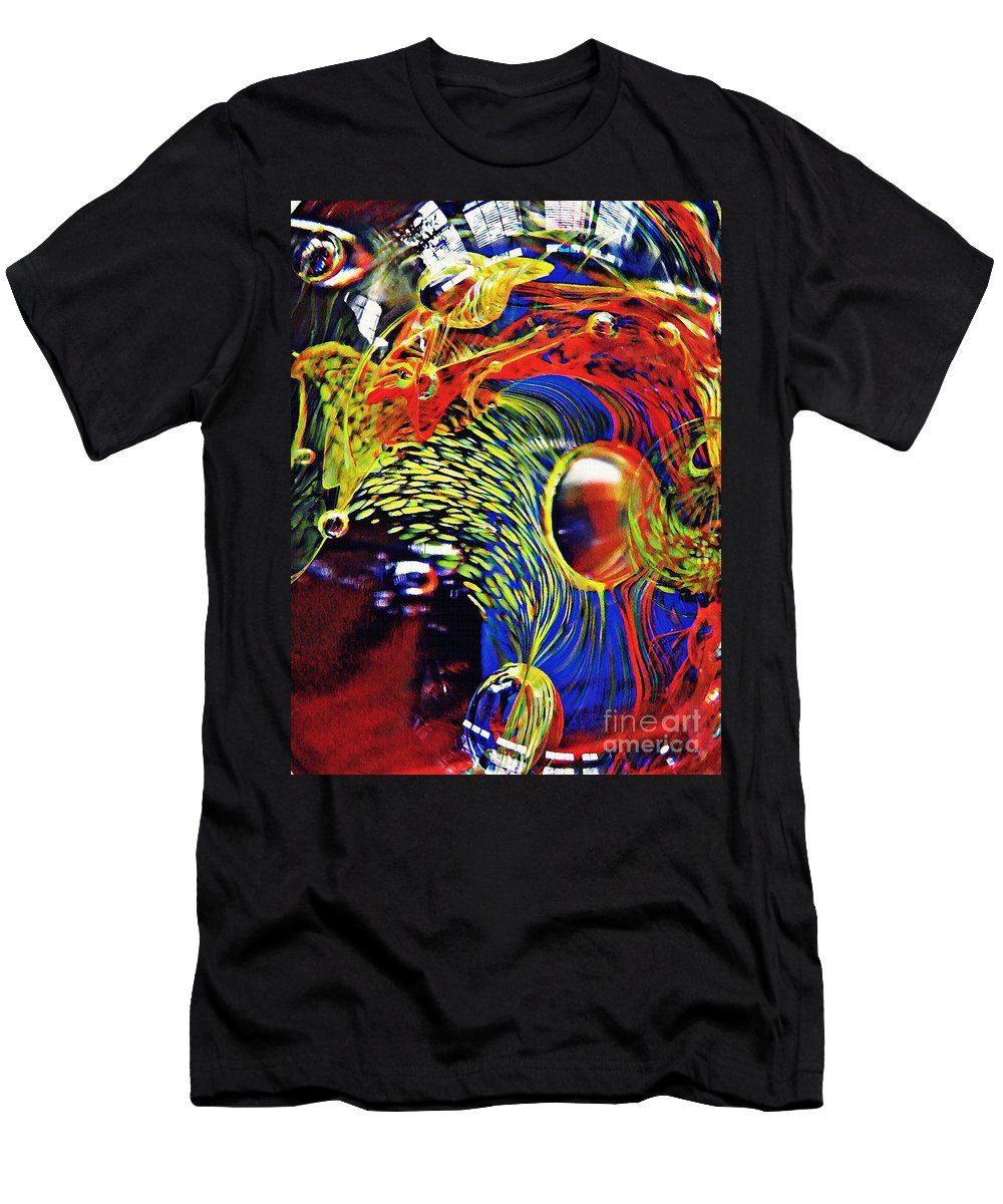 Glass Men's T-Shirt (Athletic Fit) featuring the photograph Glass Abstract 630 by Sarah Loft