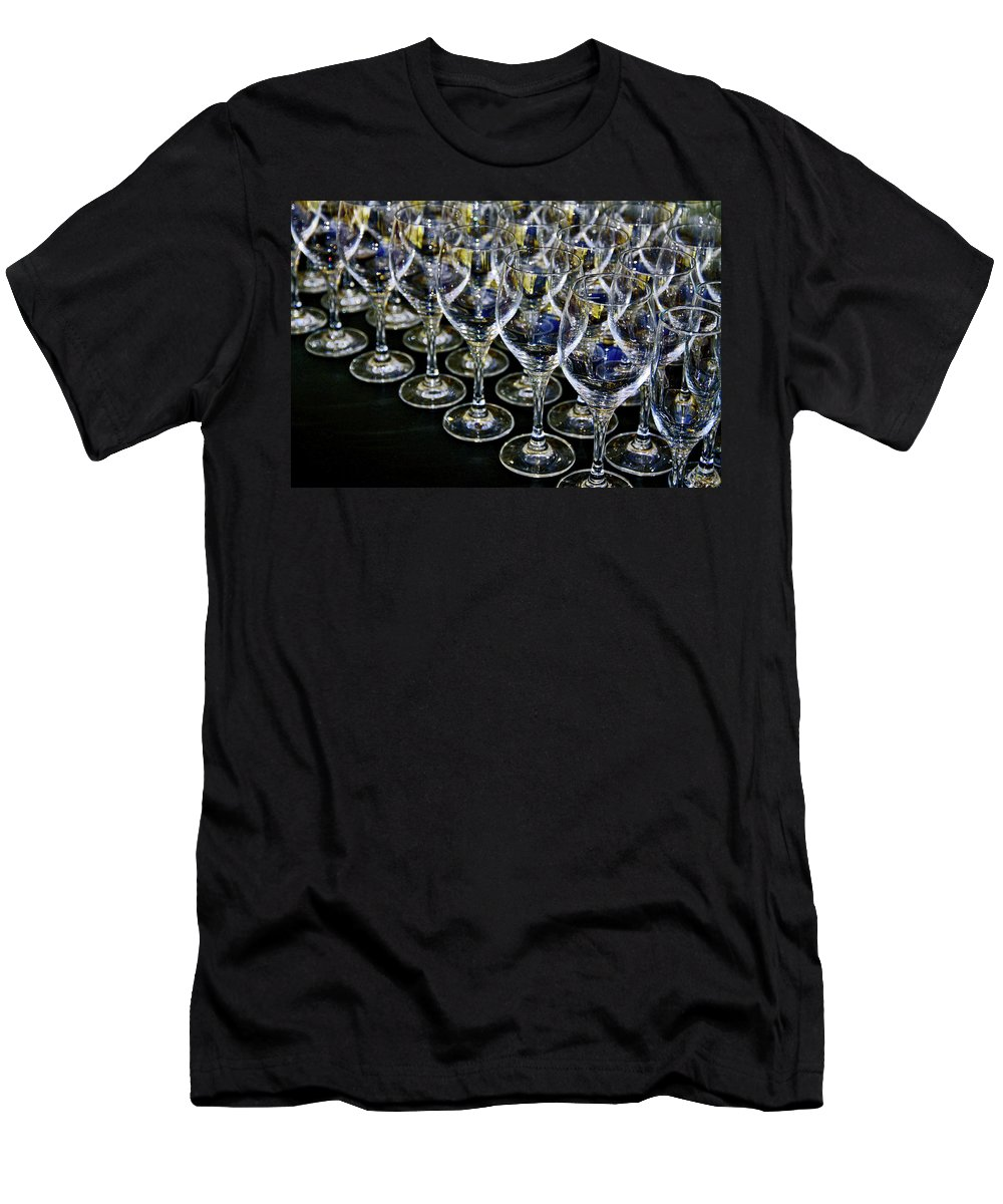 Flute Men's T-Shirt (Athletic Fit) featuring the photograph Glass Soldiers by Stephen Mitchell