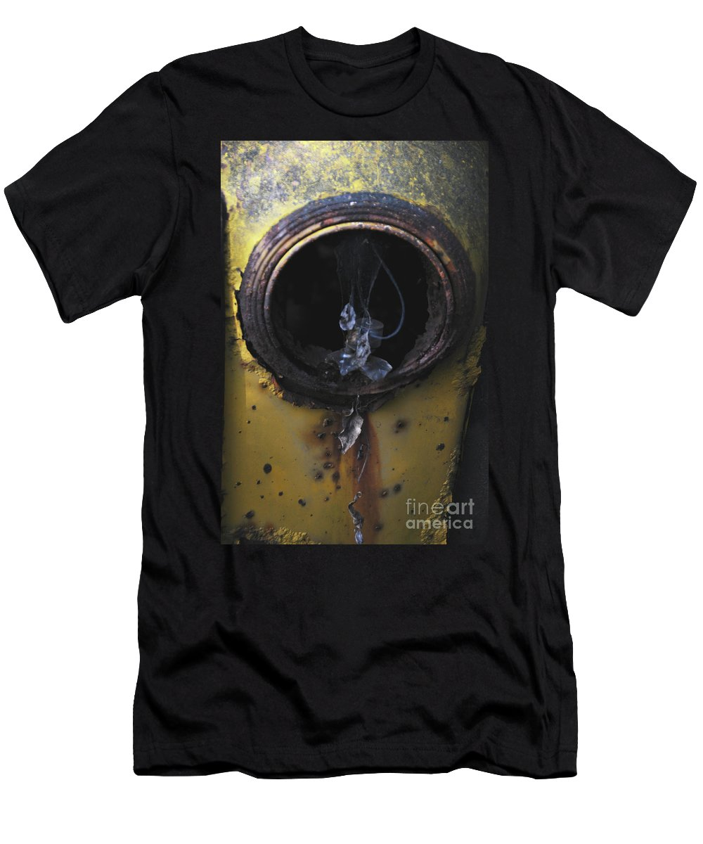 Rust Men's T-Shirt (Athletic Fit) featuring the photograph Glass Tears by Edward Crestoni