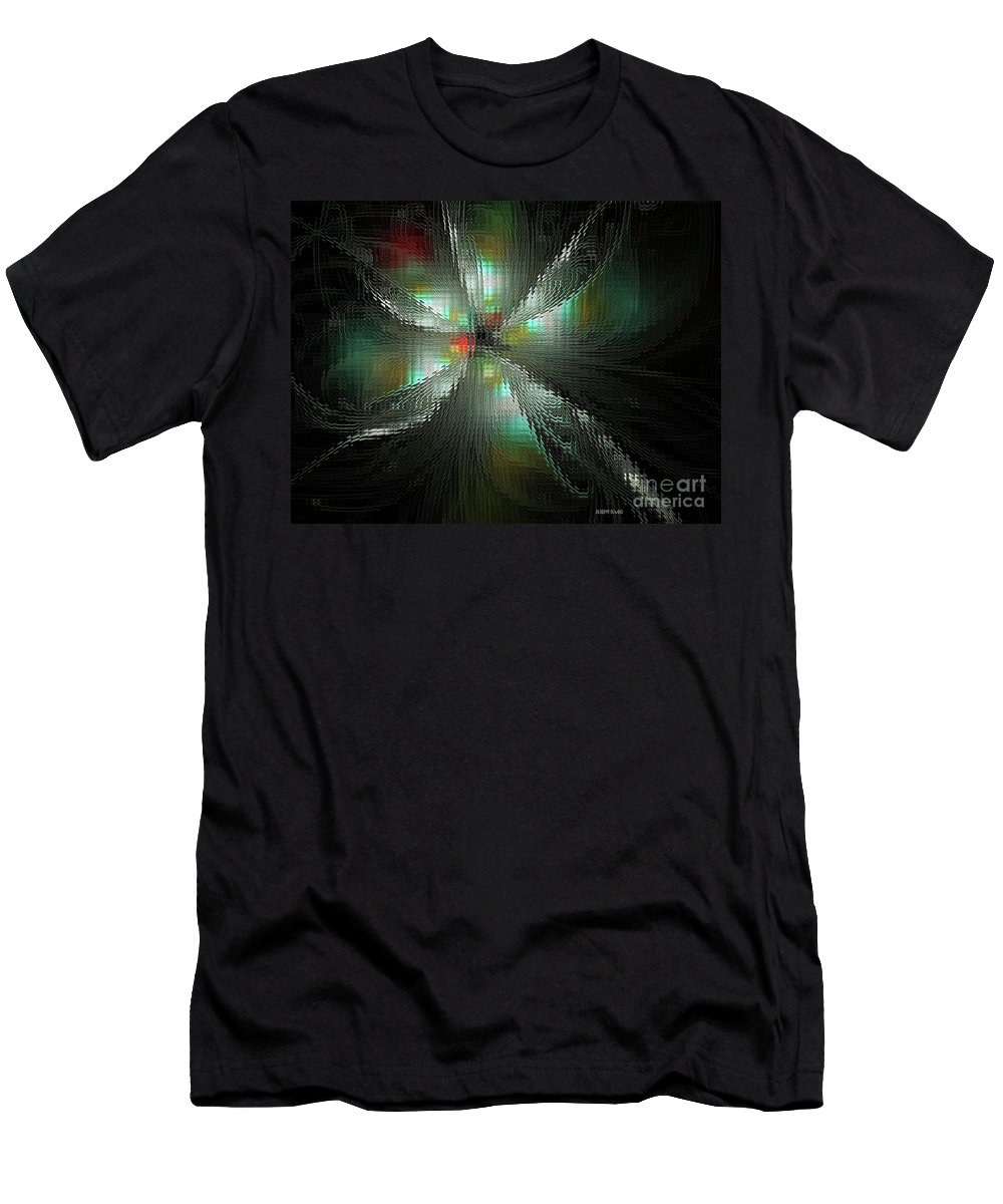Fractal Men's T-Shirt (Athletic Fit) featuring the digital art Glassworks Fractal by Deborah Benoit
