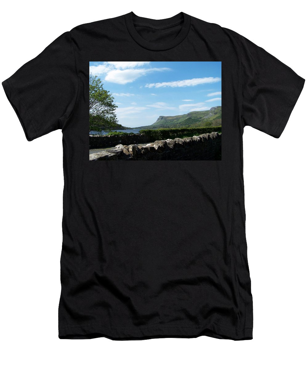 Irish Men's T-Shirt (Athletic Fit) featuring the photograph Glencar Lake With View Of Benbulben Ireland by Teresa Mucha