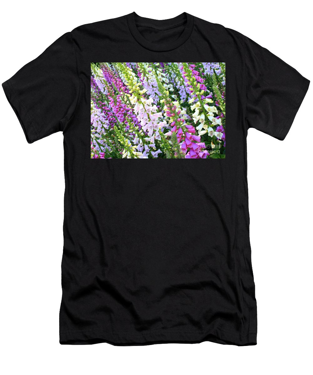 Foxgloves Men's T-Shirt (Athletic Fit) featuring the photograph Glorious Foxgloves by Carol Groenen
