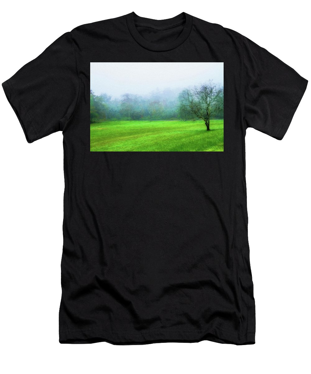Photography Men's T-Shirt (Athletic Fit) featuring the digital art Glorious Greens by Terry Davis