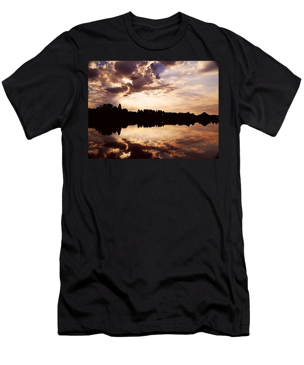 Sunrise Men's T-Shirt (Athletic Fit) featuring the photograph Glorious Moments by Gaby Swanson