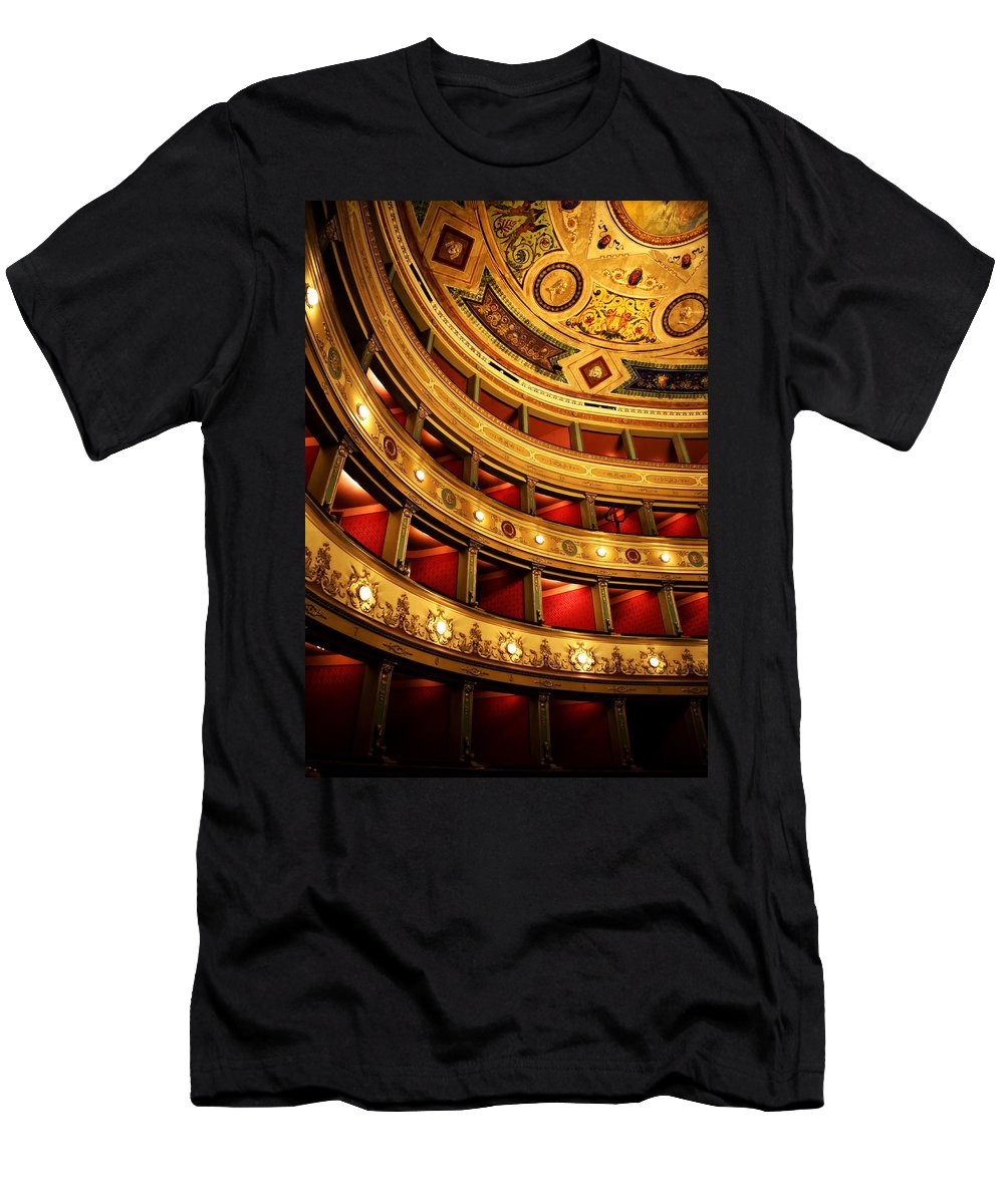 Theatre Men's T-Shirt (Athletic Fit) featuring the photograph Glorious Old Theatre by Marilyn Hunt