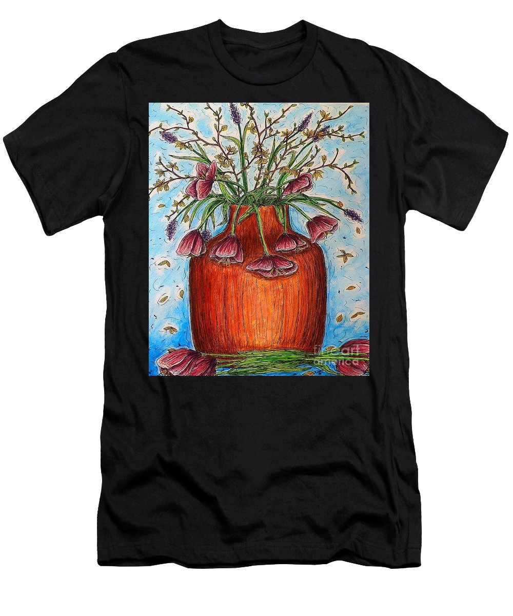 Still Life Men's T-Shirt (Athletic Fit) featuring the painting Glorious Springtime by Kim Jones