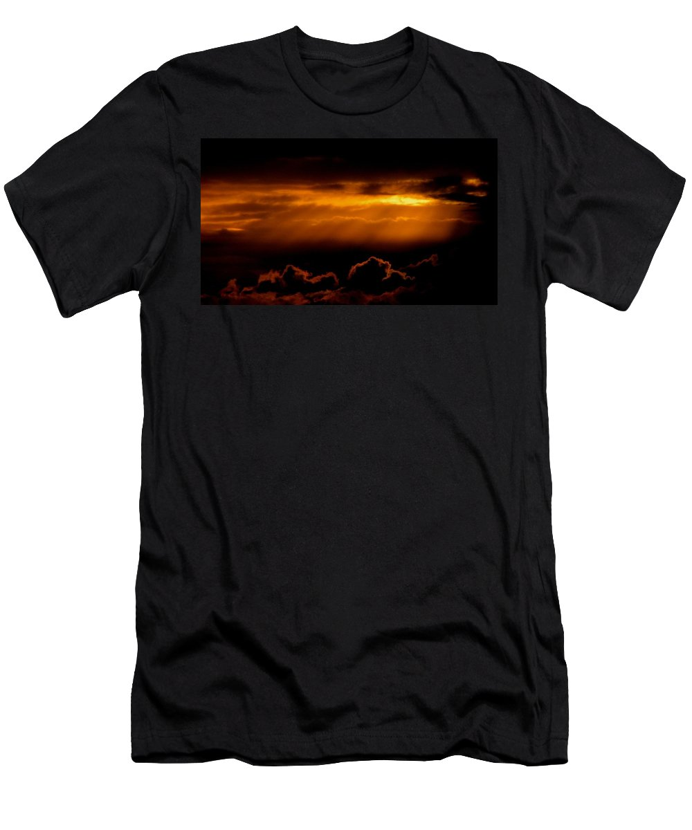 Men's T-Shirt (Athletic Fit) featuring the photograph Glourious Sunrise by Karen Mayer