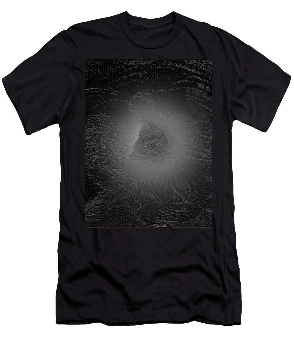 Light Men's T-Shirt (Athletic Fit) featuring the digital art Glowing Flower by Marcia Kaye Rogers
