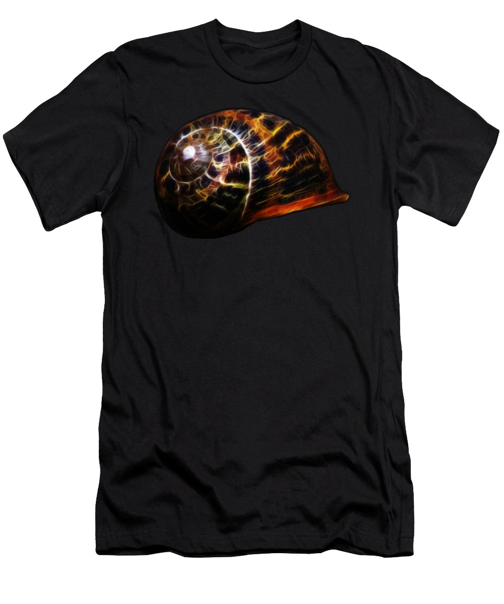 Shell T-Shirt featuring the photograph Glowing Shell by Shane Bechler