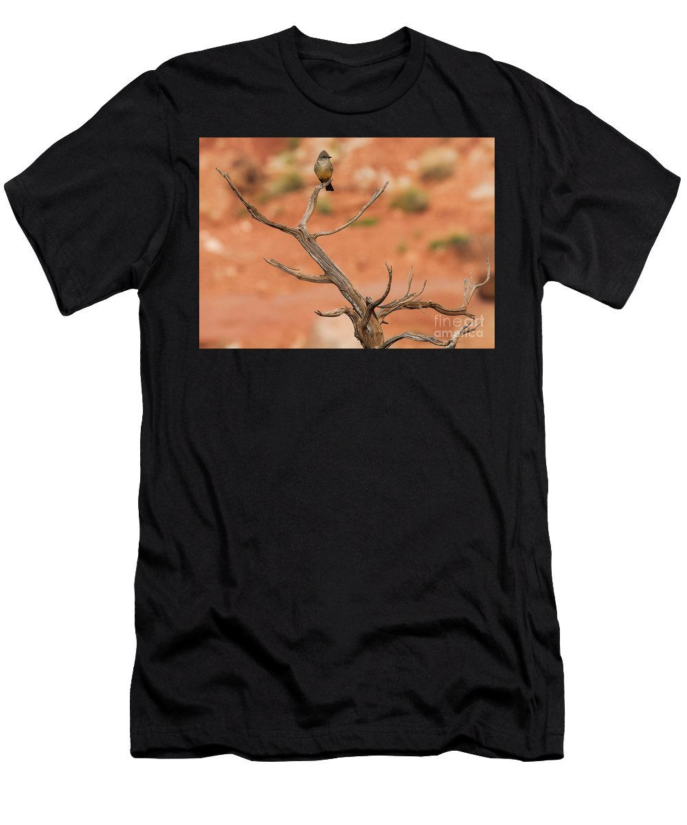 Flycatcher Men's T-Shirt (Athletic Fit) featuring the photograph Gnarled Grandeur by Jim Garrison