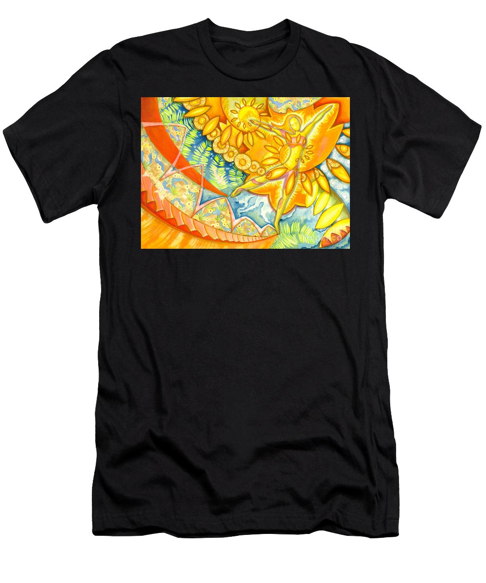 Figure Men's T-Shirt (Athletic Fit) featuring the painting Go Confidently In The Direction Of Your Dreams by Mark Stankiewicz