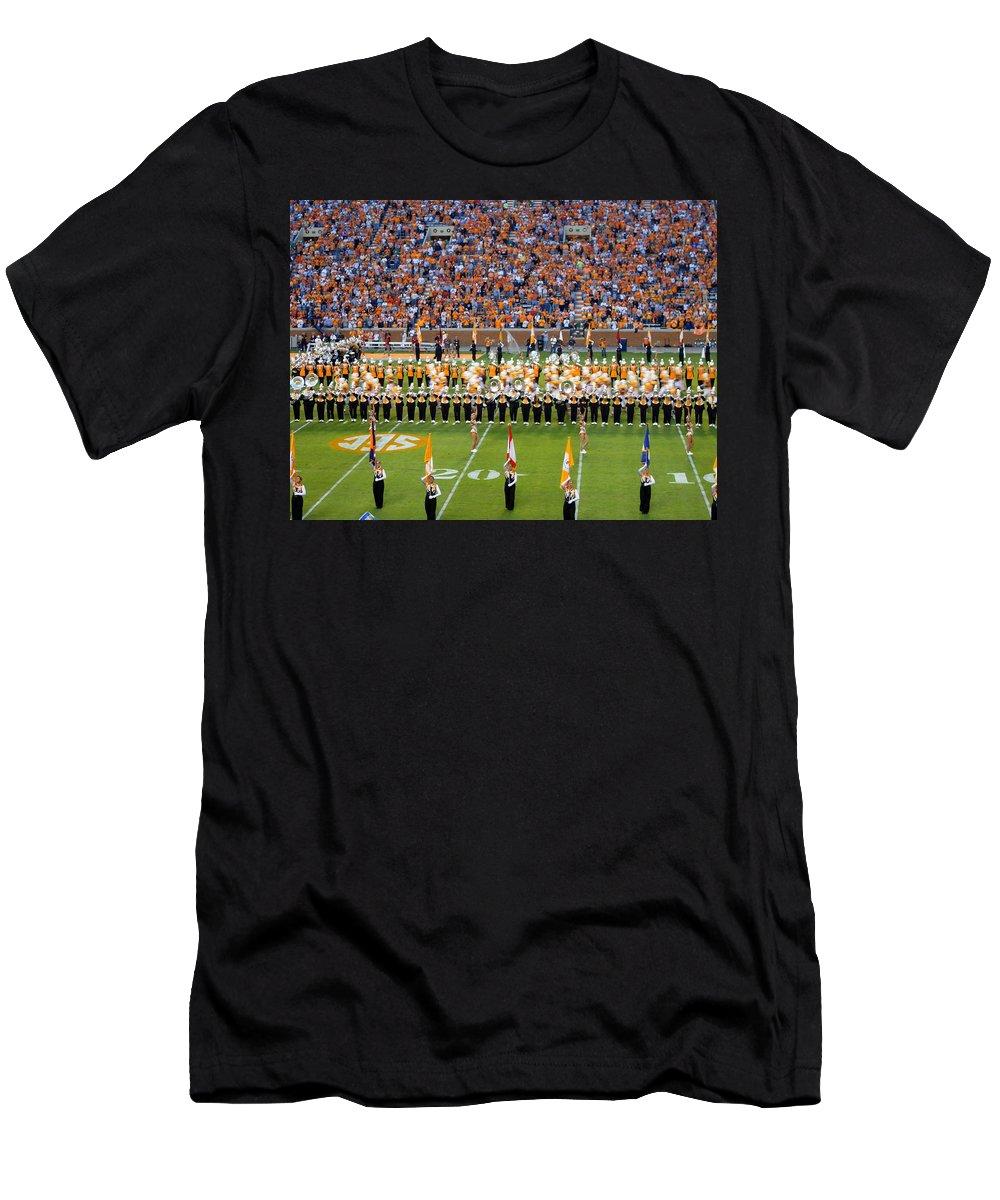 Events Men's T-Shirt (Athletic Fit) featuring the photograph Go Vols by April Patterson