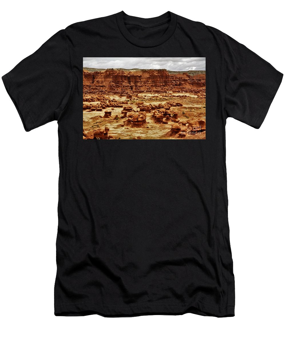 Goblin Men's T-Shirt (Athletic Fit) featuring the photograph Goblin Valley by Chuck Hicks