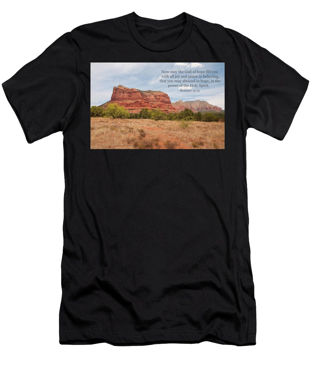 Landscape Men's T-Shirt (Athletic Fit) featuring the photograph God Of Hope by Kim Warden