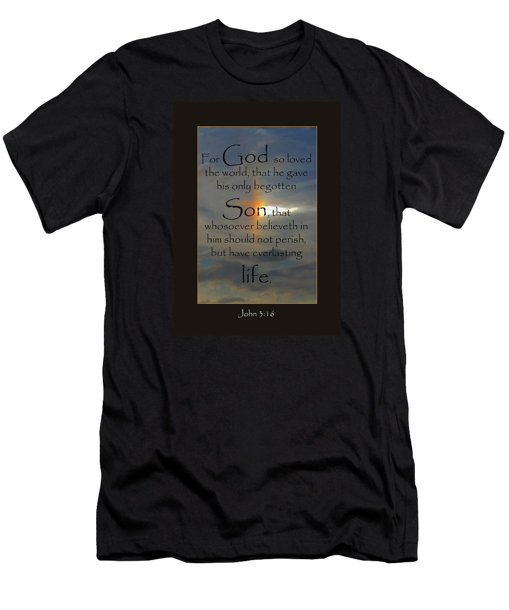 Uplifting Men's T-Shirt (Athletic Fit) featuring the photograph God So Loved by Karen Beasley