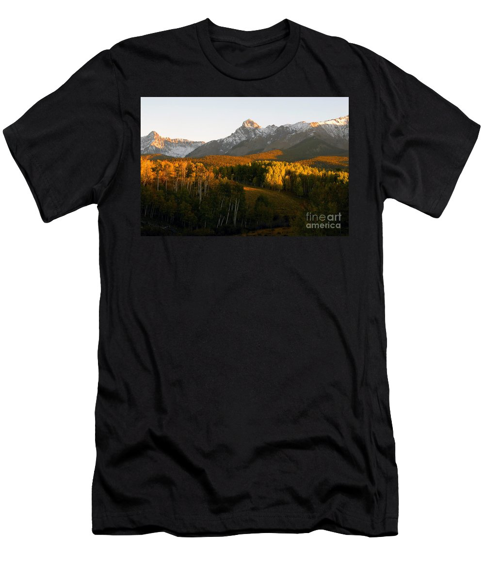 Landscape Men's T-Shirt (Athletic Fit) featuring the photograph God's Country by David Lee Thompson