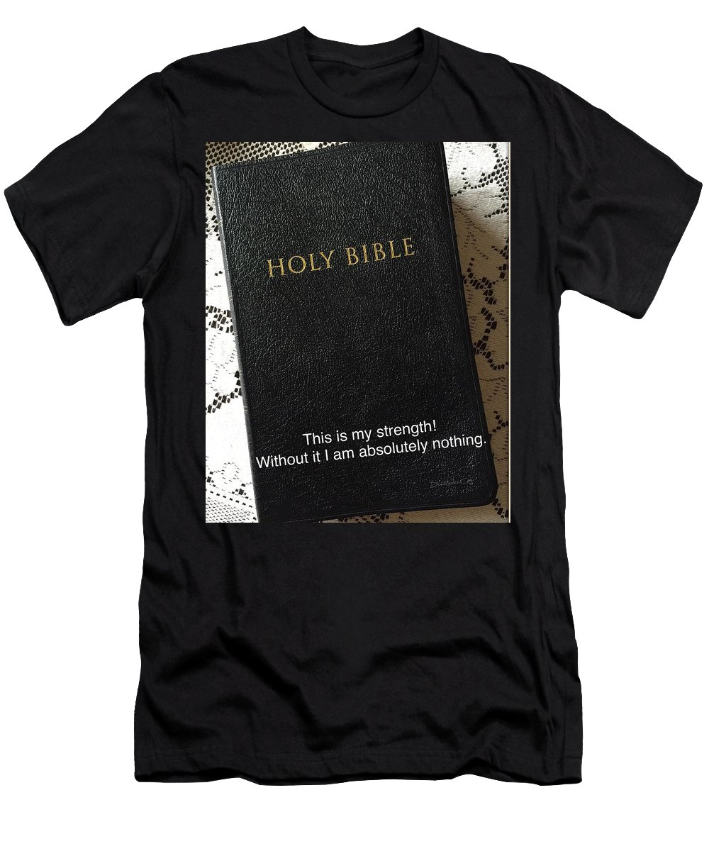 Bible Men's T-Shirt (Athletic Fit) featuring the photograph God's Instruction Manual by Diane Lindon Coy