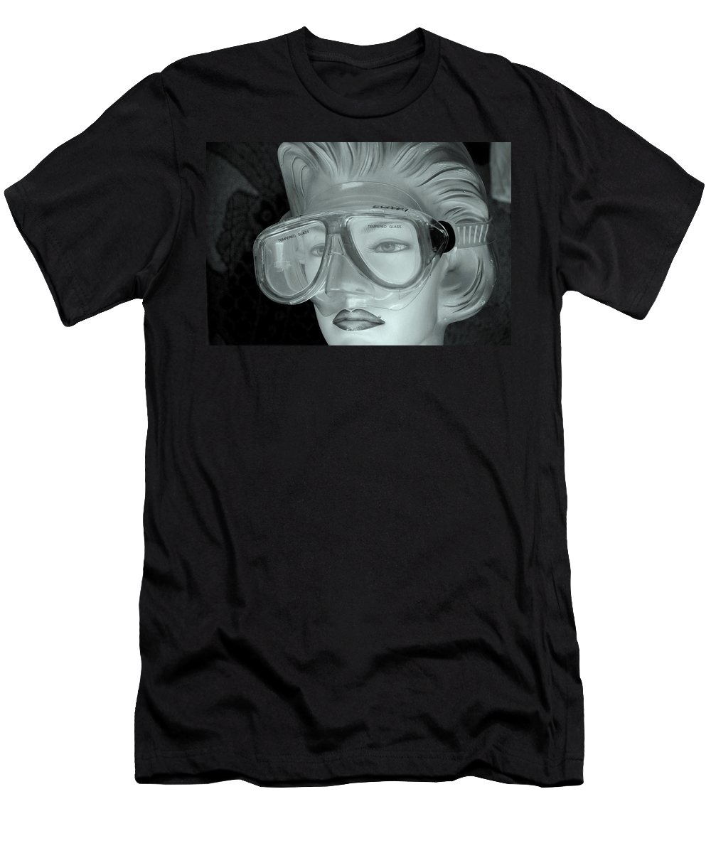 Jezcself Men's T-Shirt (Athletic Fit) featuring the photograph Goggle Me by Jez C Self