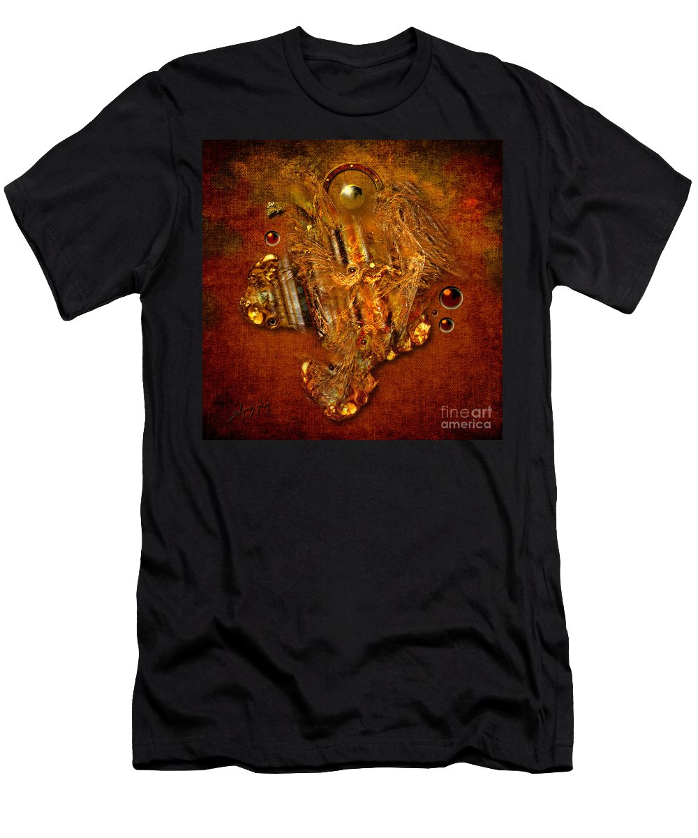 Angel Men's T-Shirt (Athletic Fit) featuring the painting Gold Angel by Alexa Szlavics