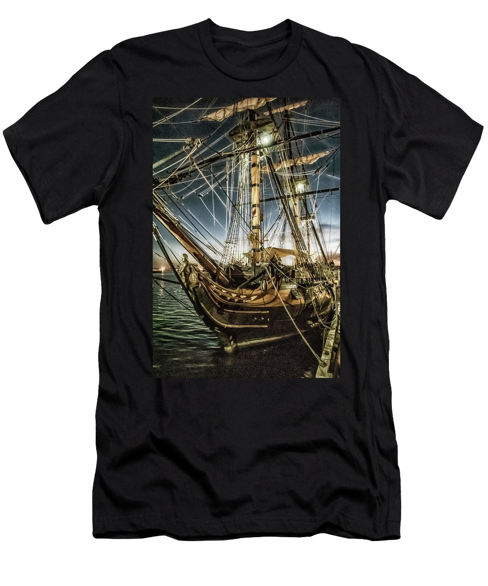 Ship Men's T-Shirt (Athletic Fit) featuring the photograph Gold Digger by Pamela Williams
