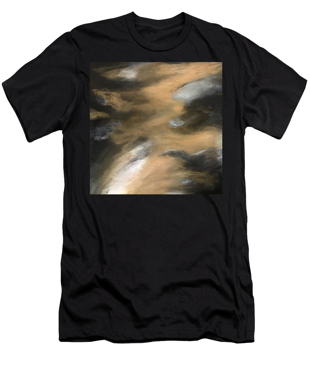 Gold Men's T-Shirt (Athletic Fit) featuring the mixed media Gold Dust Woman by Susi Schuele