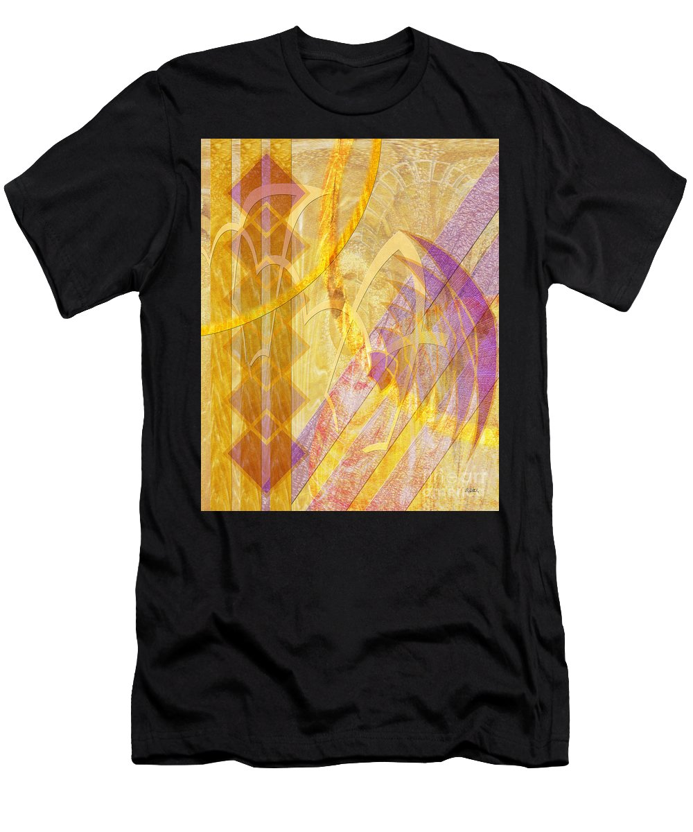 Gold Fusion Men's T-Shirt (Athletic Fit) featuring the digital art Gold Fusion by John Beck