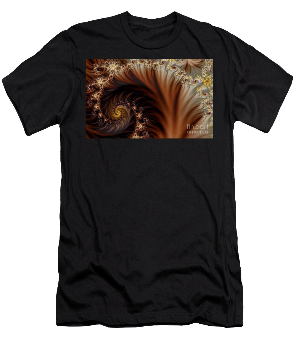 Clay Men's T-Shirt (Athletic Fit) featuring the digital art Gold In Them Hills by Clayton Bruster