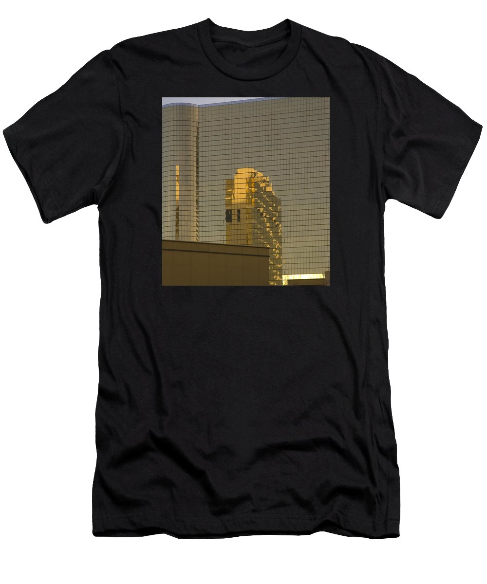 Abstract Men's T-Shirt (Athletic Fit) featuring the photograph Gold Reflections by Damyon Verbo
