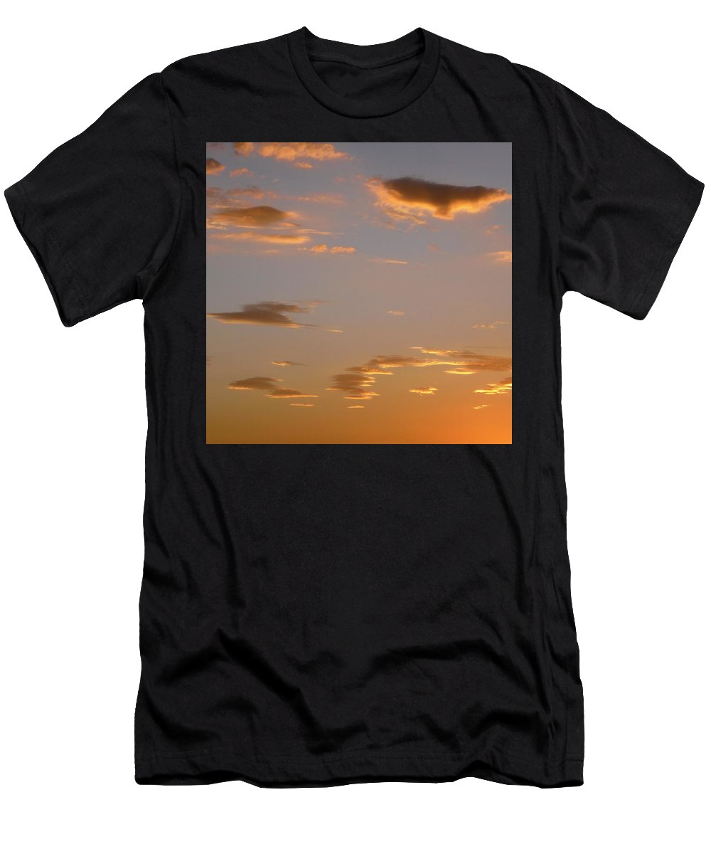 Clouds Men's T-Shirt (Athletic Fit) featuring the photograph Golden Clouds by Stephanie Moore