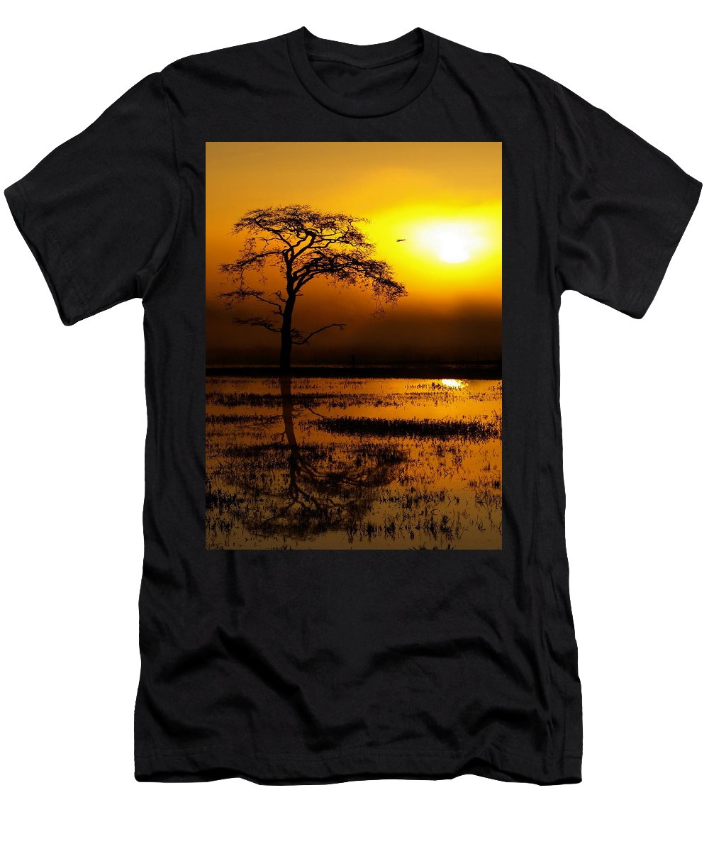Landscape Men's T-Shirt (Athletic Fit) featuring the photograph Golden Dawn by Richard Thomas