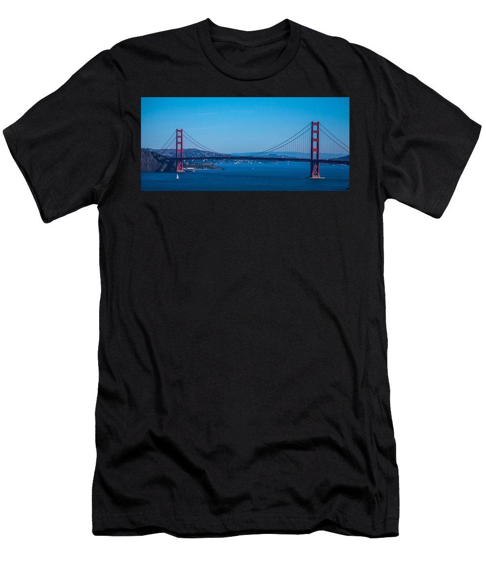 San Francisco Men's T-Shirt (Athletic Fit) featuring the photograph Golden Gate Bridge by Chris Tobin