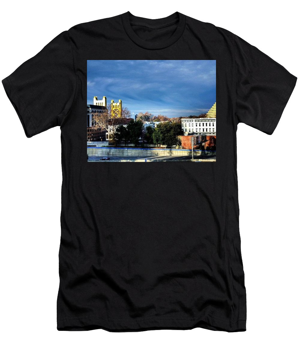 Blue Men's T-Shirt (Athletic Fit) featuring the photograph Golden Gate by Christopher Wilson